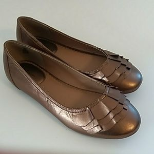 Lands End Leather  Mary Janes Flats 5M